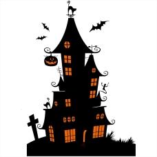 sticker-halloween-electrostatique-manoir-hante-noir-orange-vitrophanie-vitrine-deco-vitres-HALL75