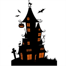sticker-halloween-electrostatique-manoir-hante-noir-orange-vitrophanie-vitrine-deco-vitres-HALL75